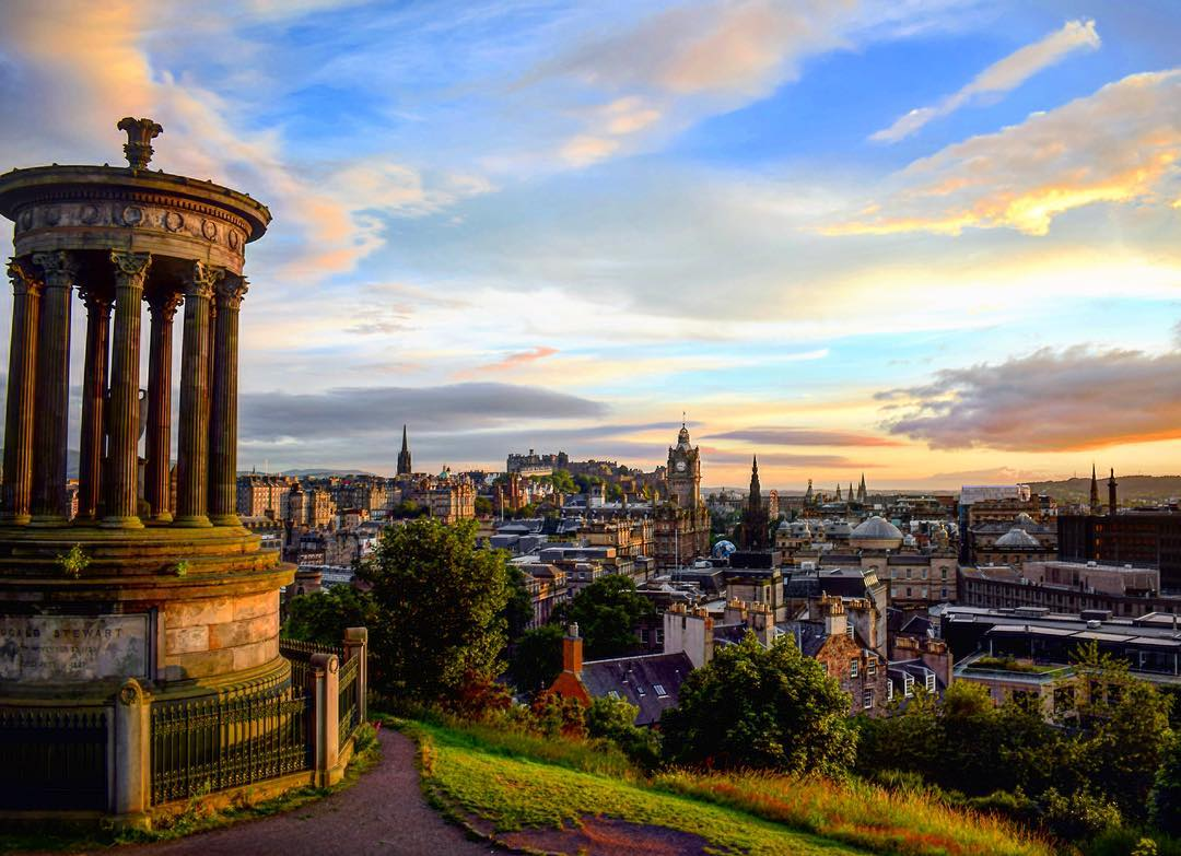 Calton Hill Edinburgh at Sunset