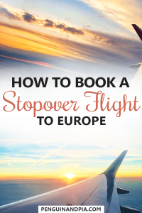 How to book a stopover flight