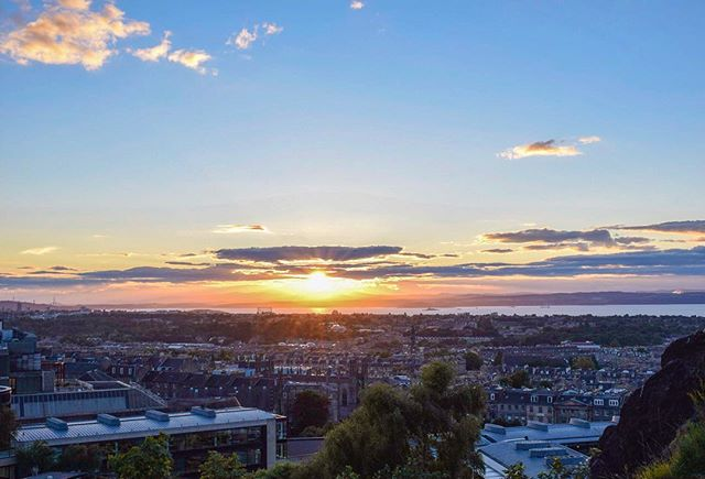 Sunset Calton Hill Edinburgh