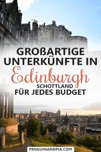 Unterkünfte in Edinburgh Schottland