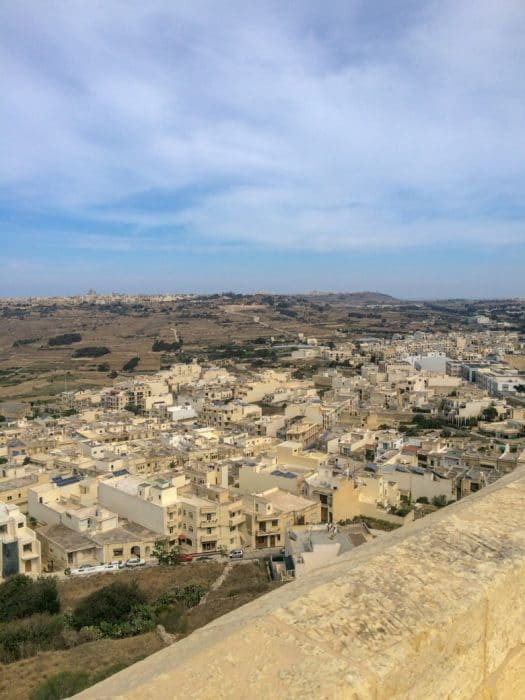 old buildings from high above in malta