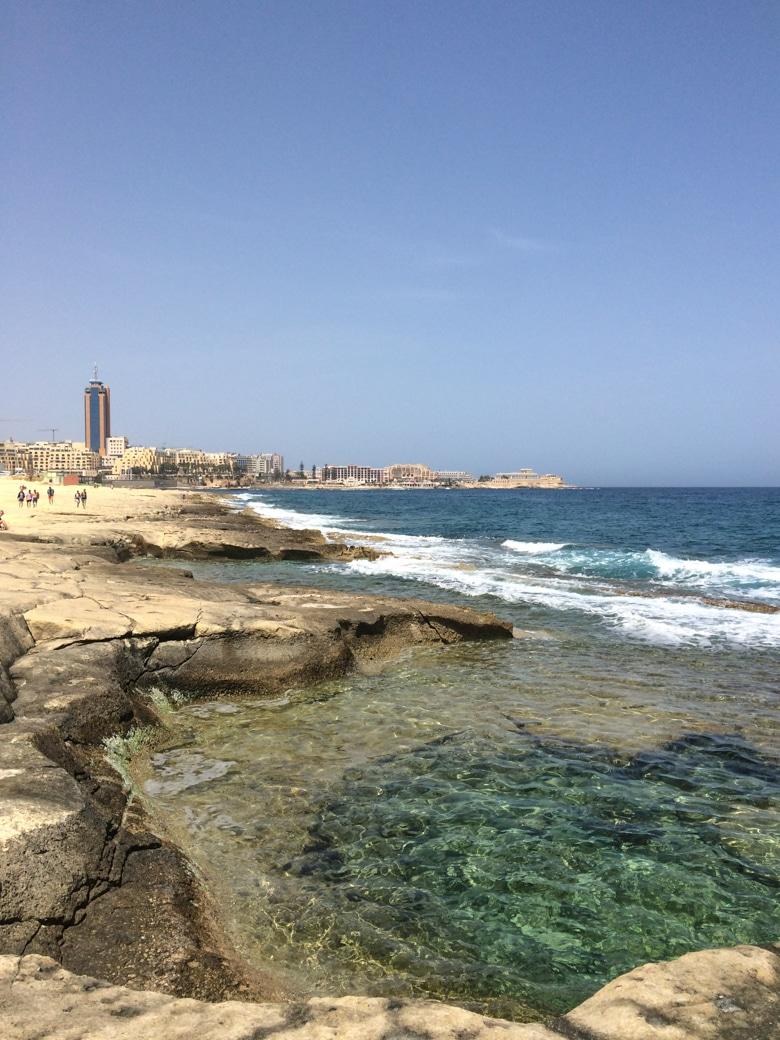 Küstenlinie in Sliema Malta