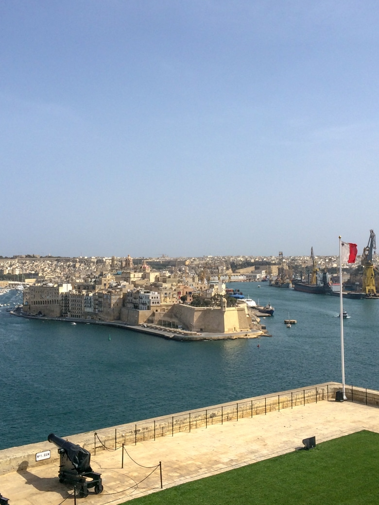 barrakka gardens looking over grand harbour malta
