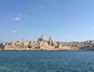 valletta malta itinerary with blue sky and water