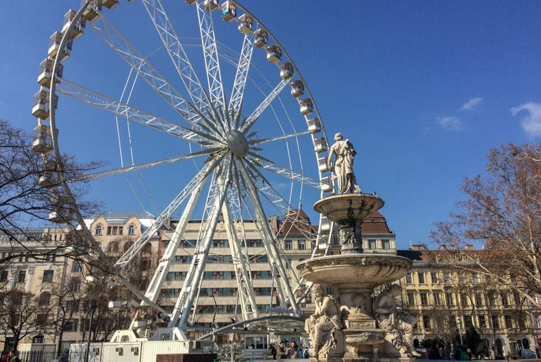 white ferris wheel in budapest park