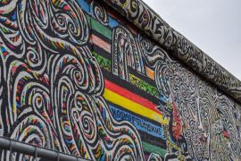 german flag in graffiti on wall