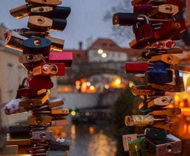 love locks in prague cute couple captions