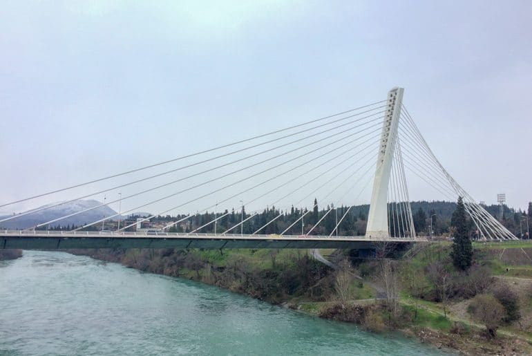 Millenium Bridge in Podgorica Montenegro