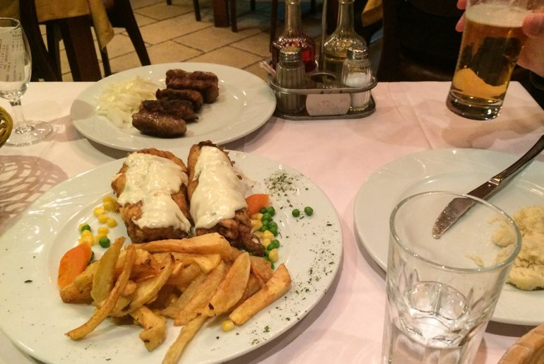 montenegro food on plates with beer podgorica things to do