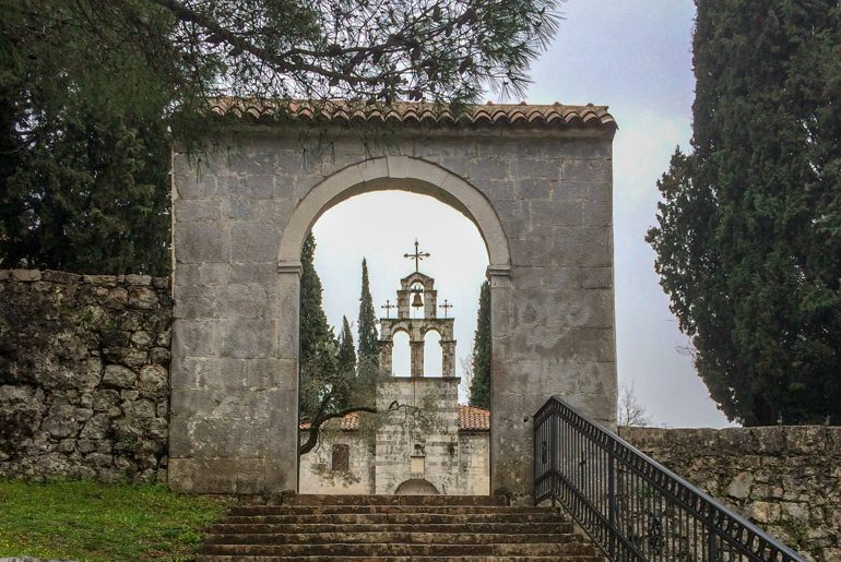 stone archway into old church podgorica things to do
