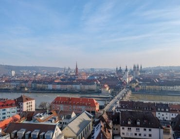 colourful old town and bridge in wurzburg germany