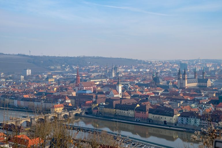 colourful old town roofs tops and river from above things to do in wurzburg germany