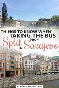 Things to know when taking the bus from Split to Sarajevo