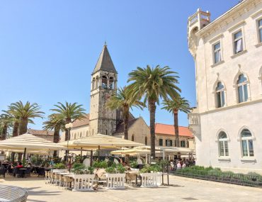 clock tower sandstone in trogir croatia on day trip from split