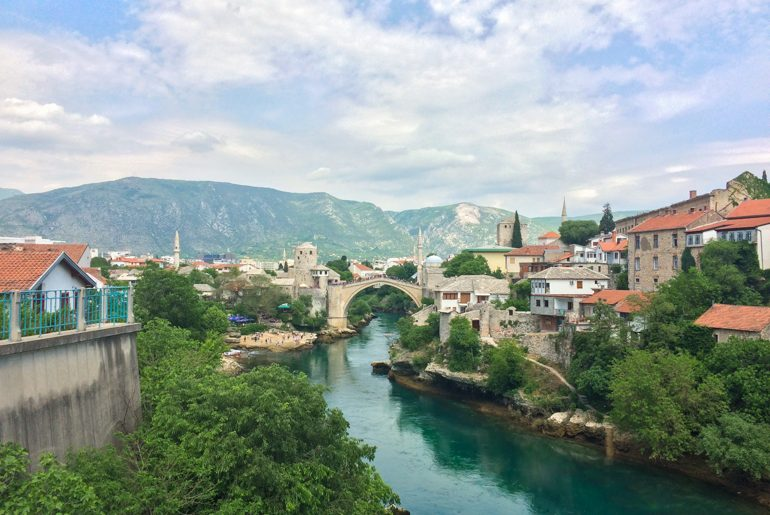 stari most bridge in mostar bosnia on day trips from split