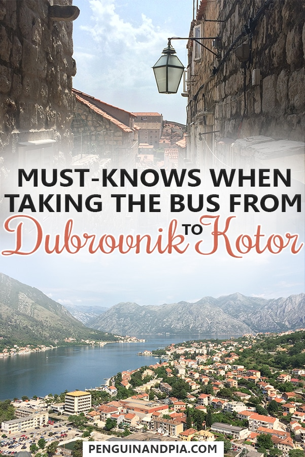 Must-Knows when taking the bus from Dubrovnik to Kotor