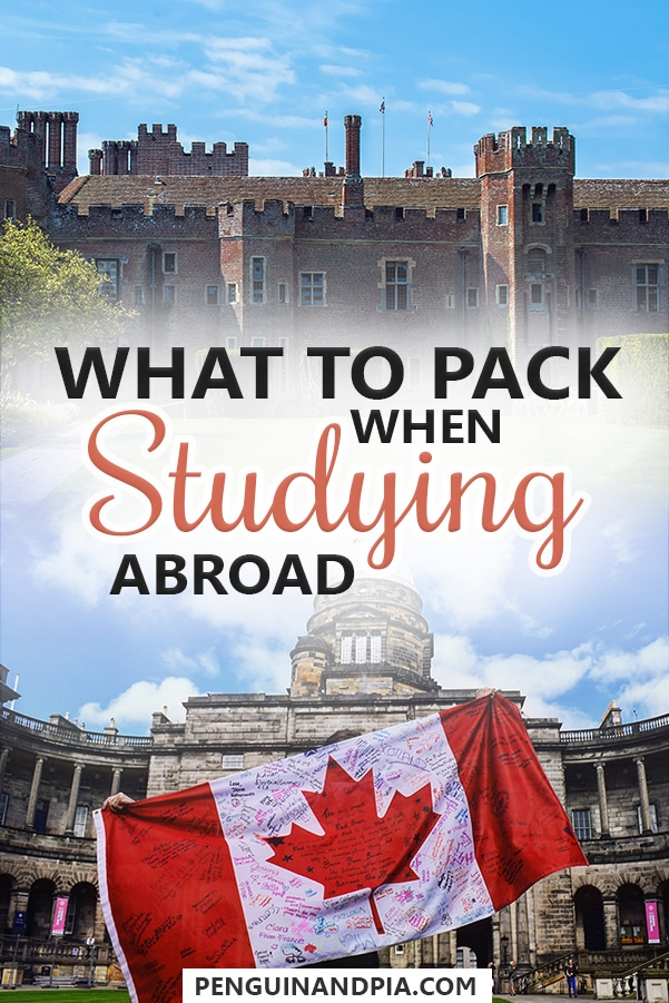 What to pack when studying abroad