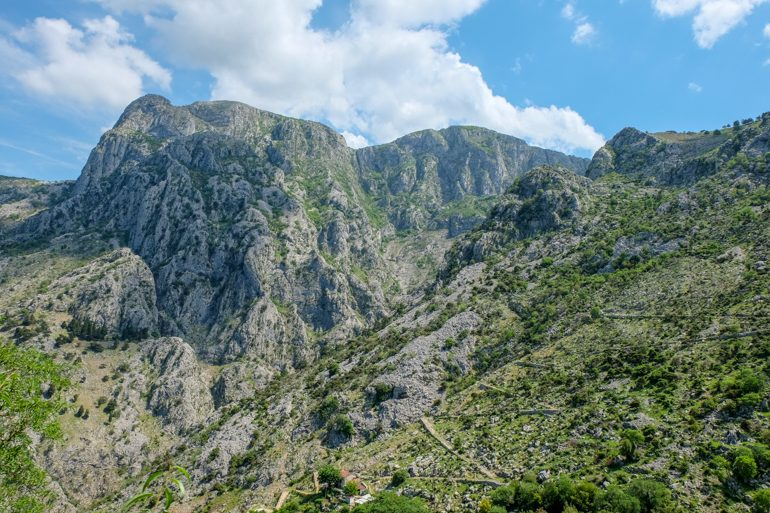 green mountain with zig zag ladder of kotor pathway things to do in kotor