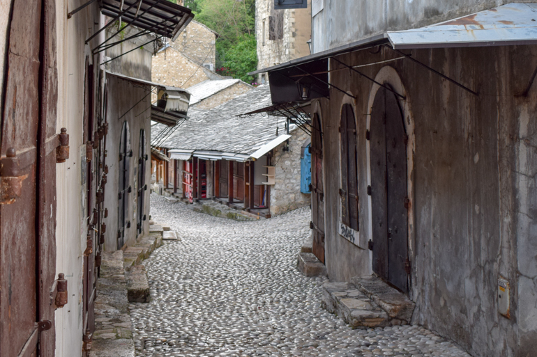 old town bazaar with cobbled streets in mostar bosnia things to do in bosnia