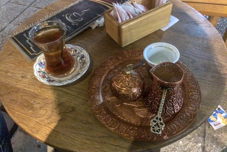 turkish coffee on brass platter things to do in sarajevo