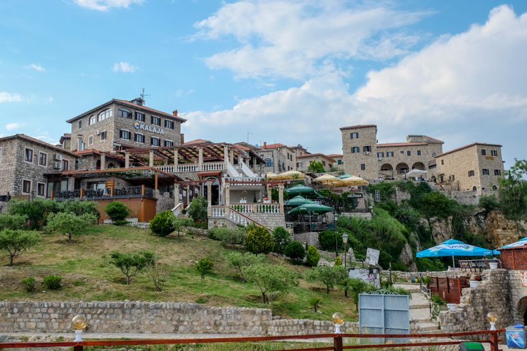 old town restaurants on top of hill in ulcinj