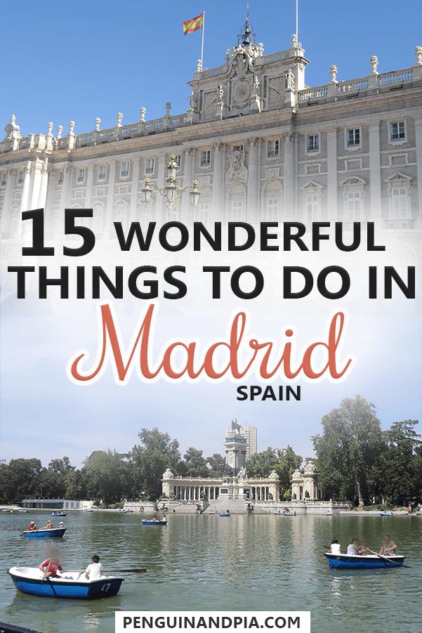 Wonderful Things to Do in Madrid,Spain