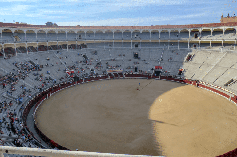 sandy bull ring in spainish stadium in madrid things to do