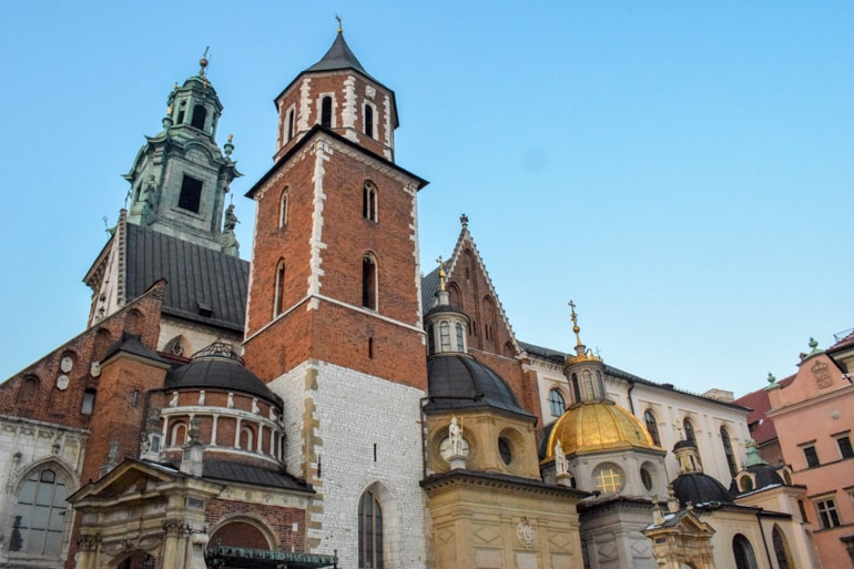 colourful towers of wawel castle 3 days in krakow
