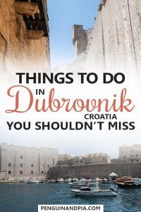 Things to do in Dubrovnik Croatia