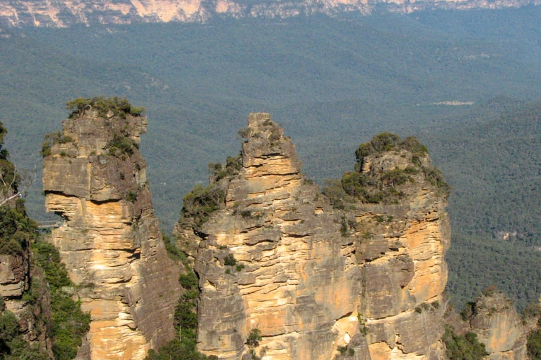 Felsformation Blue Mountains Australien Attraktionen