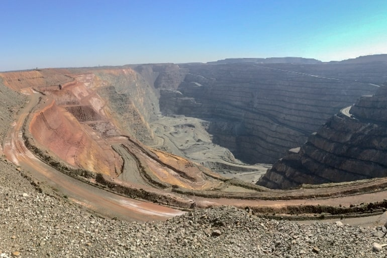 Stone and Mining area Kalgoorlie super pit Australia