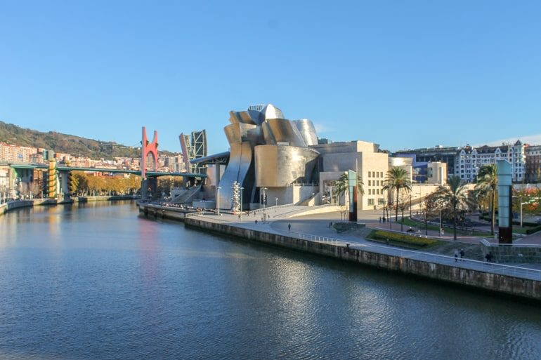 metal museum on the water in bilbao spain itinerary