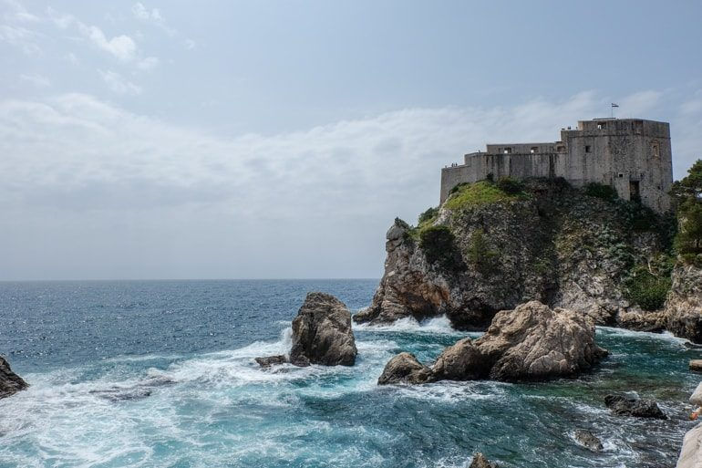 old stone fort with blue coast things to do in dubrovnik croatia