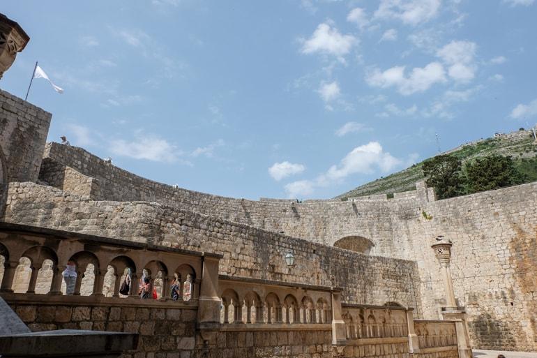 Stadtmauer aus Sandstein Altstadt Dubrovnik