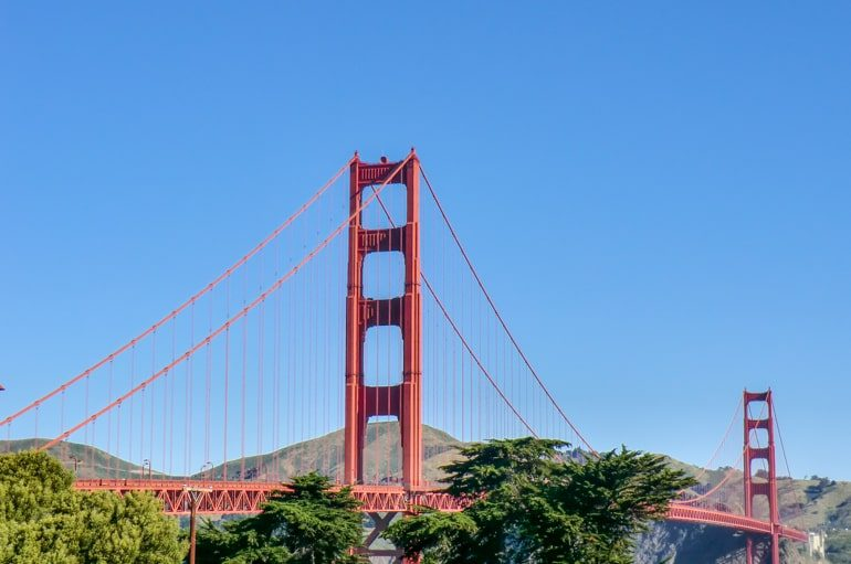 red golden gate bridge with blue sky top 10 things to do in san francisco
