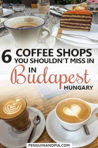 Coffee Shops in Budapest, Hungary