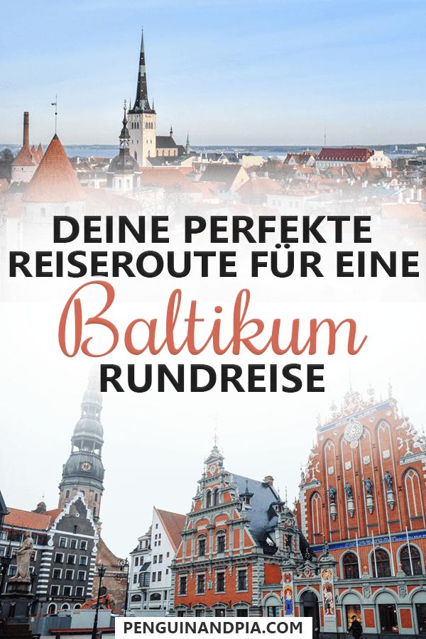 Route für eine Baltikum Rundreise