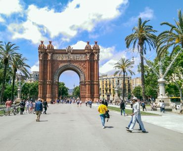 red arch and walkway places to visit in barcelona