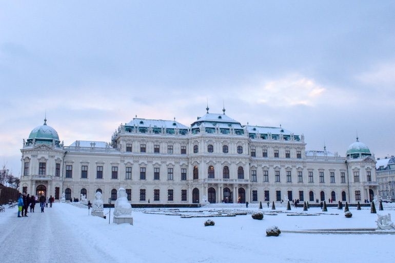 royal building with snowy yard things to do in vienna austria