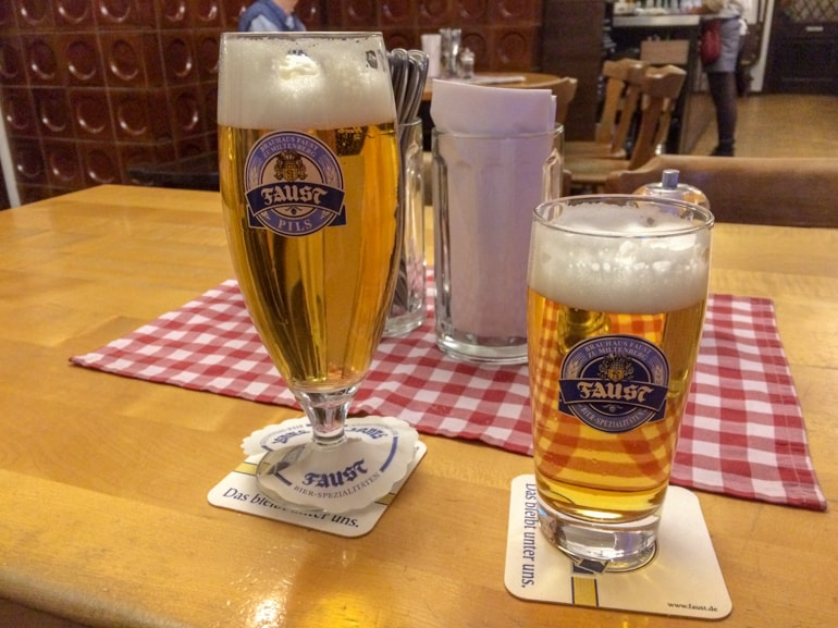 beers on wooden table things to do in aschaffenburg bavarian meal