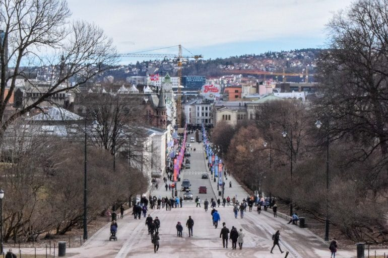 long street with many people things to do in oslo norway