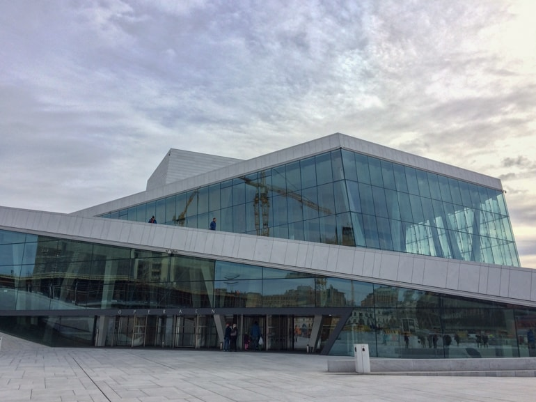 glass and metal opera house things to do in oslo norway