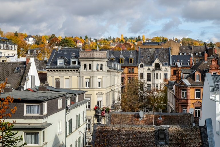 old houses and autumn trees on hill things to do in wiesbaden