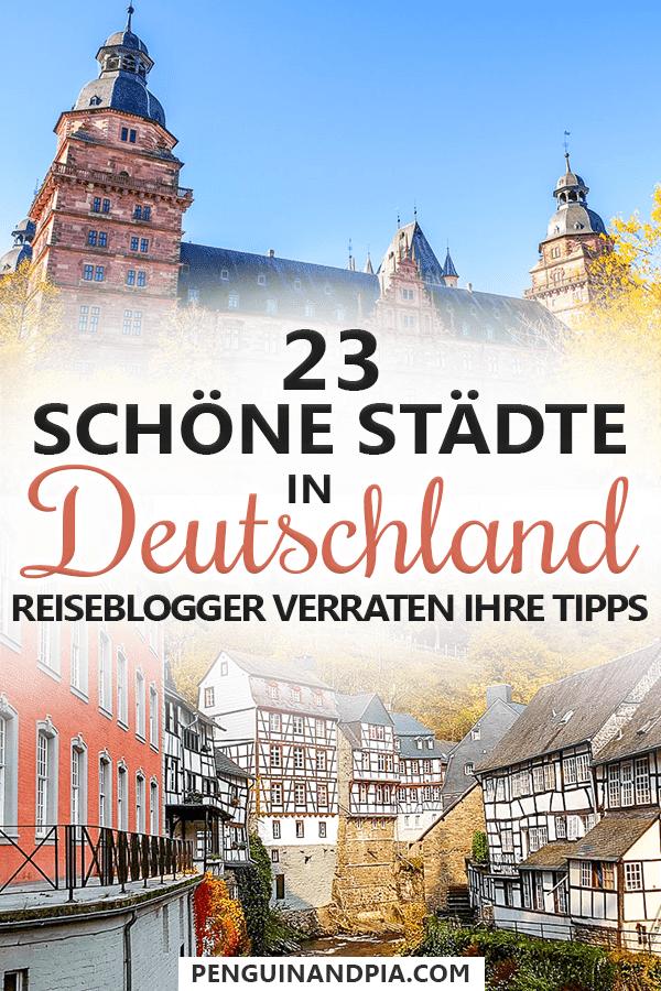 23 schöne Städte in Deutschland