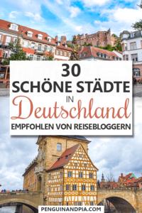 Schöne Städte in Deutschland Pin