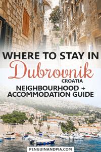Where to stay in Dubrovnik Croatia