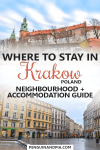 Where to stay in Krakow Poland