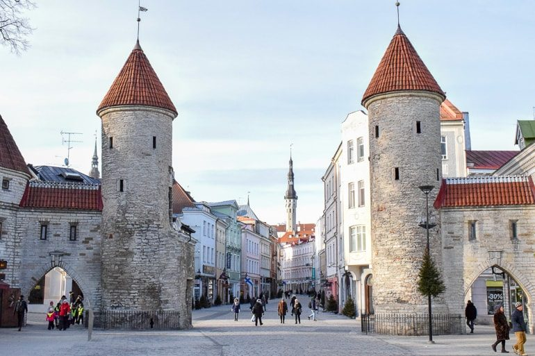 old town stone wall and gates european hostels tallinn estonia