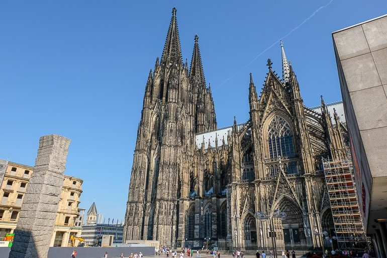dark cathedral and public square hostels in germany cologne downtown