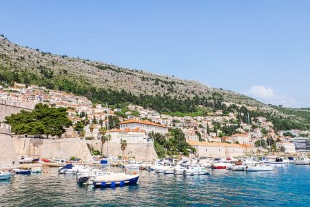 boats in blue harbour where to stay in dubrovnik ploce